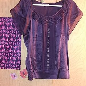 Purple silk tunic